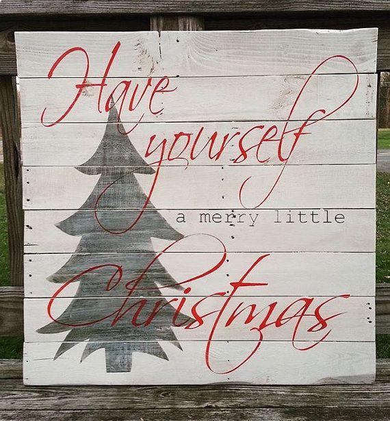 Christmas sign Have yourself a merry little by SoulspeakandSawdust