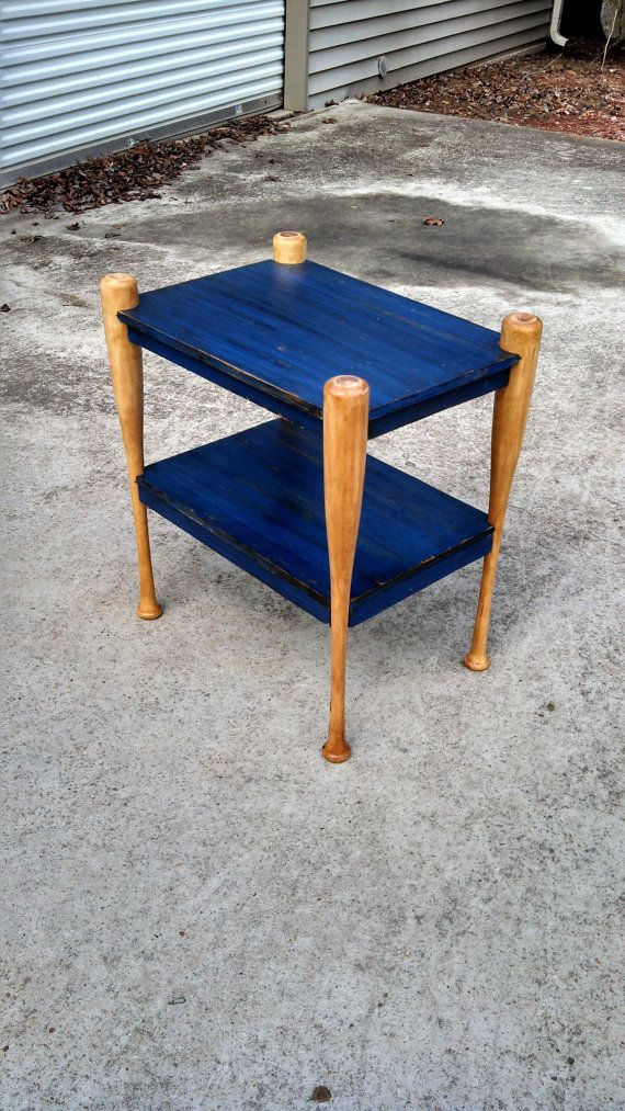 Custom Built Baseball Bat Table by TimberCreekDandCLLC on Etsy, $130.00