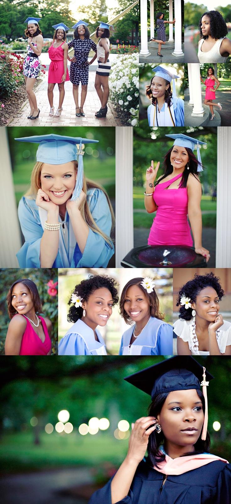 Senior graduation portraits, Posing, friends, flowers