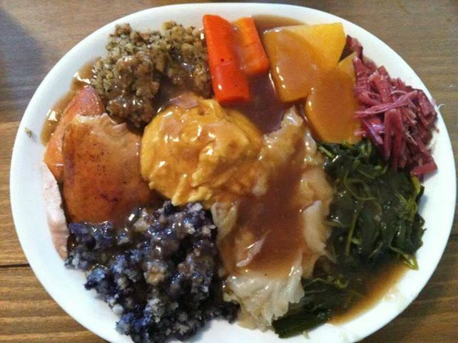 Sunday Dinner (Jigg's Dinner plus turkey, dressing and gravy).