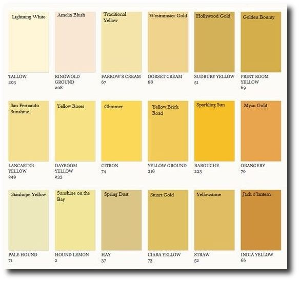 Farrow & Ball Colors Matched to Benjamin Moore  4