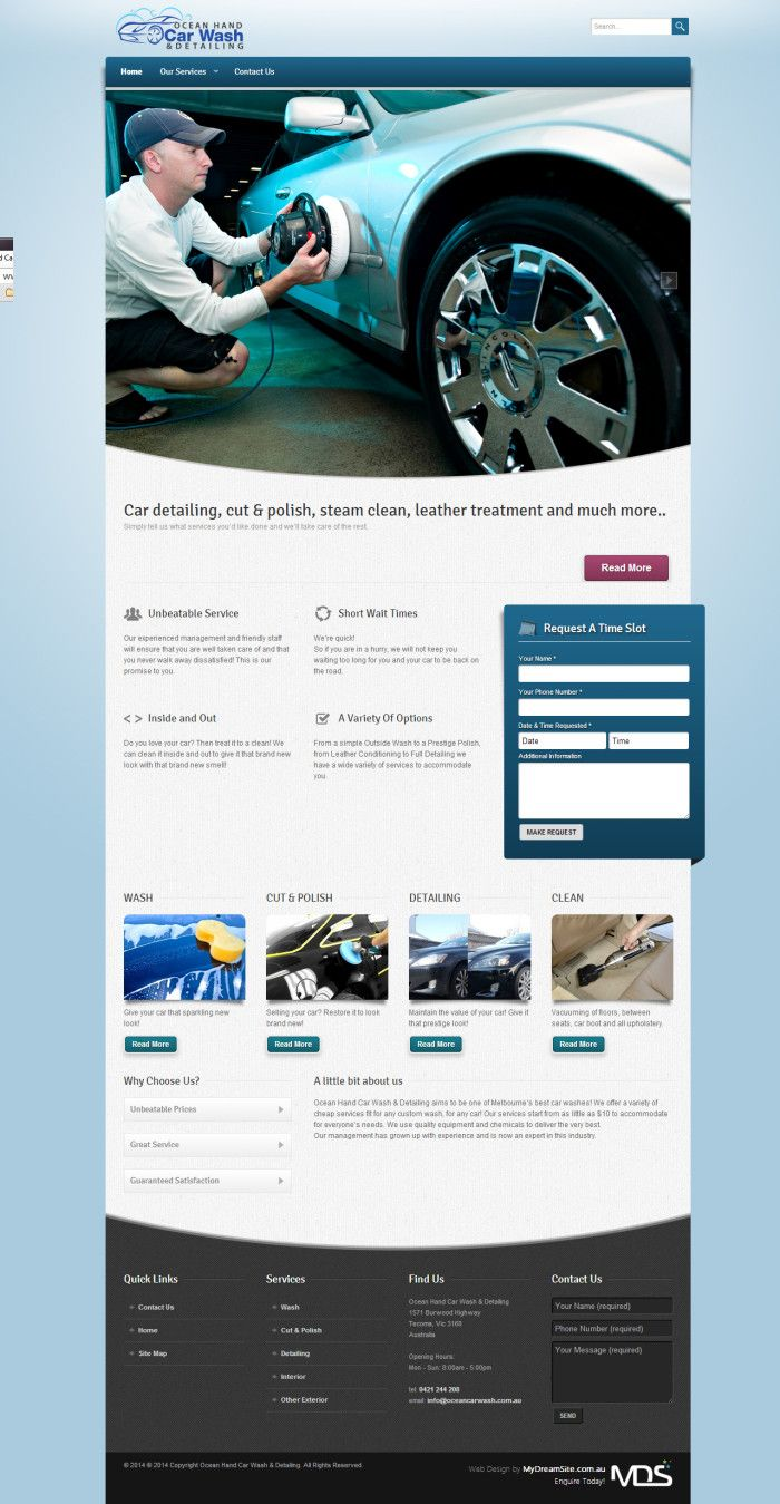 Website Template for Car Wash Company