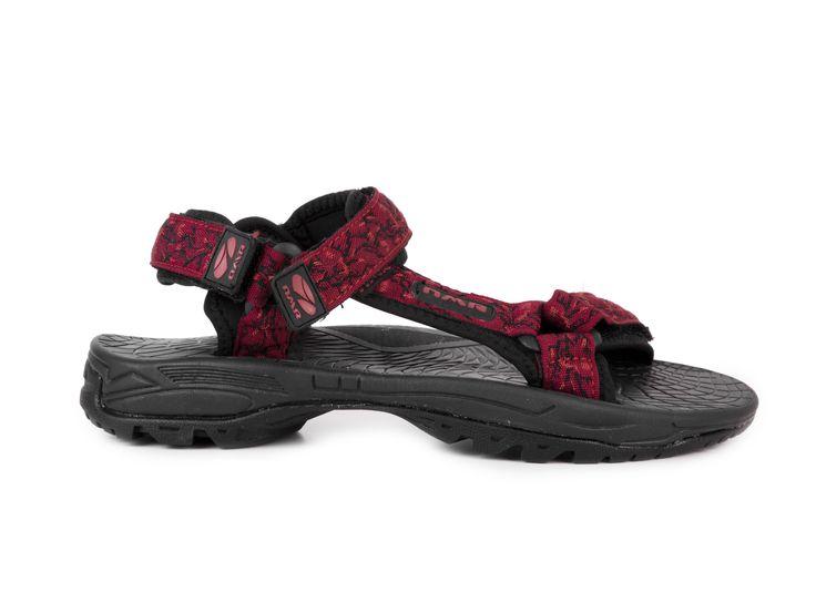 Numero Uno Pánské sportovní sandály s pásky GS10-S053 / červená