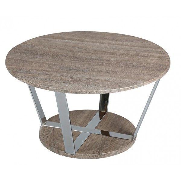 17 meilleures images propos de table basse sur pinterest m taux design e - Table basse ronde en bois ...