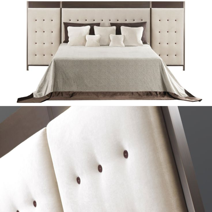 1000 images about promemoria on pinterest armchairs floor lamps and bronze - Wit bed capitonne ...