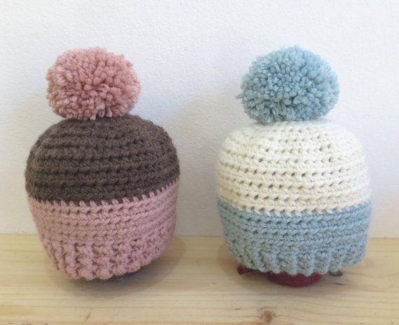 Gorro infantil con pompón gorro crochet gorro bebé por Niozeka