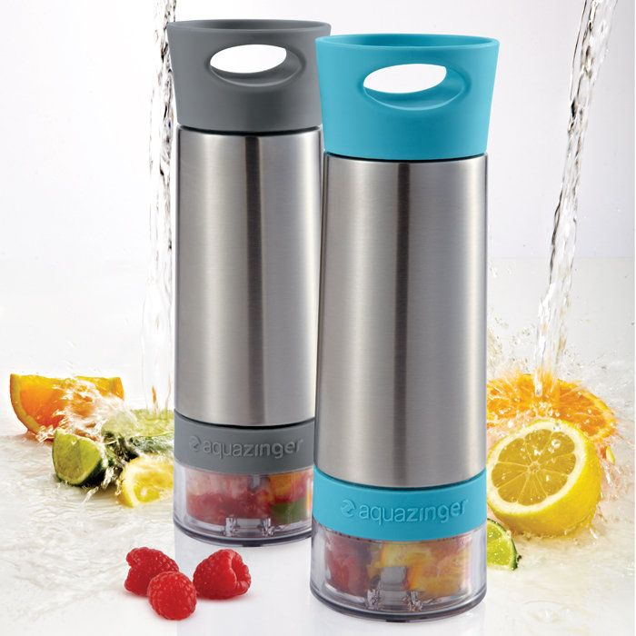put fresh fruit in the bottom and it will infuse your water.