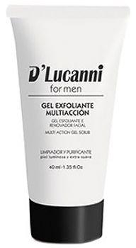 Gel exfoliante multi-acción: peeling facial para el hombre, D'Lucanni. http://www.tucosmetica.es/producto/gel-exfoliante-multiaccion/ #belleza #cosmetica