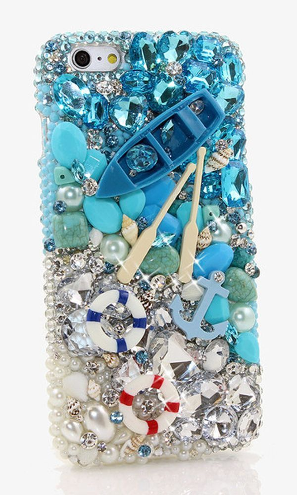 Bling Paddle Away Design case made for iPhone 6s Plus. Our designs are 100% handmade and unique. Get yours today!! http://luxaddiction.com/collections/3d-designs/products/paddle-away-design-style-818