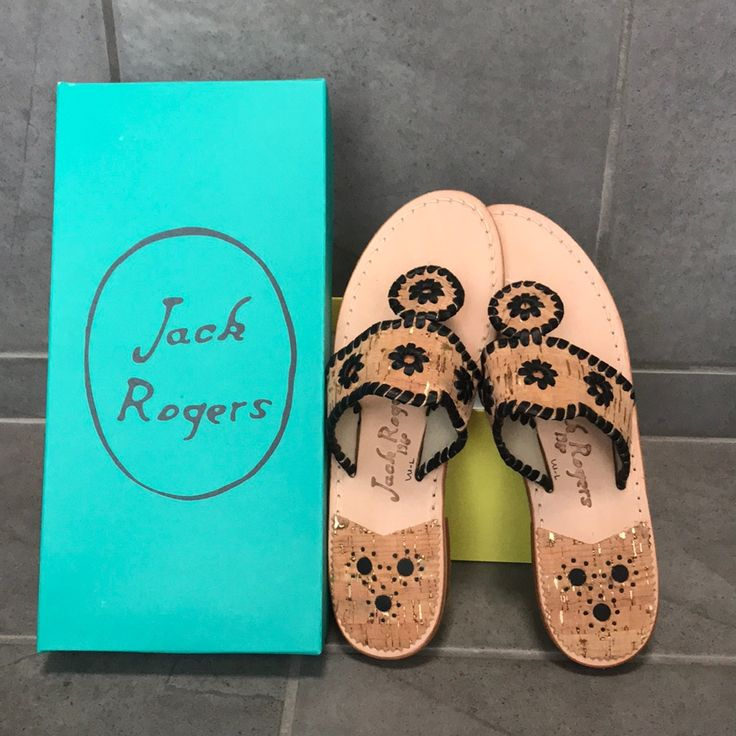 Jack Rogers Shoes   New Jack Rogers Palm Beach Sandals Size 7.5   Color: Black/Brown   Size: 7.5
