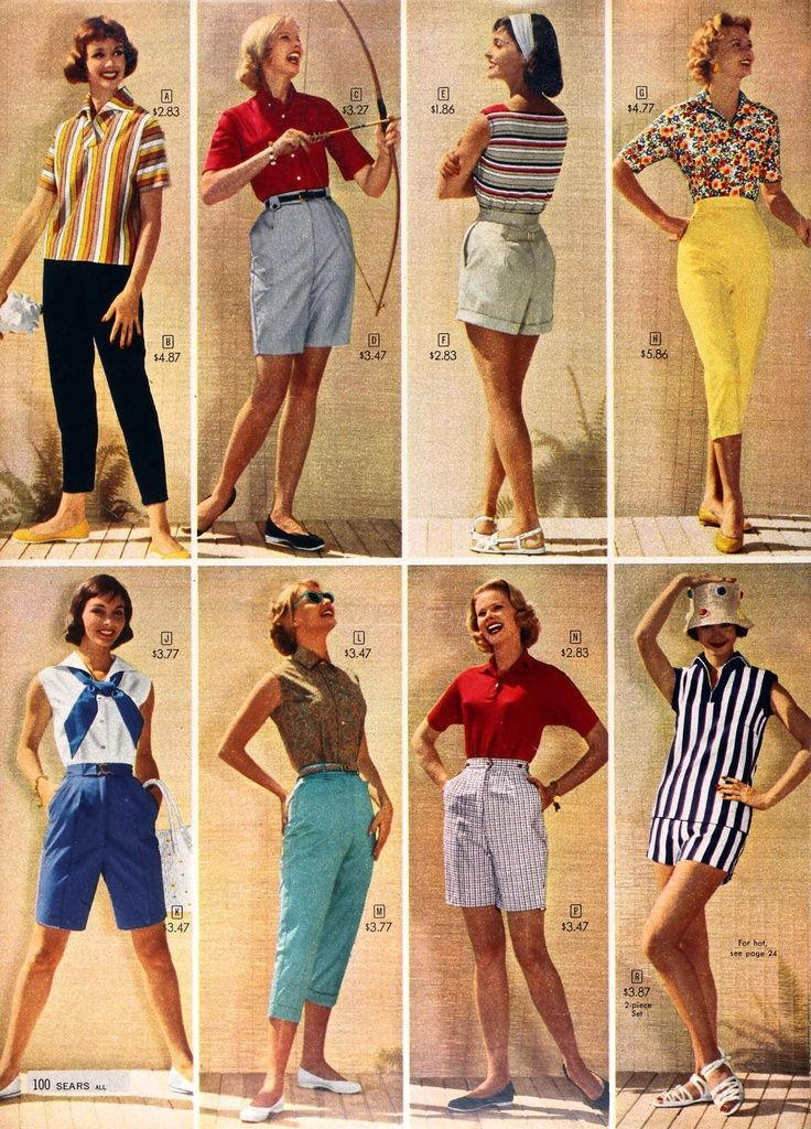 1950s Shorts Vintage Retro Shorts History 1950s Shorts And 1950s Fashion