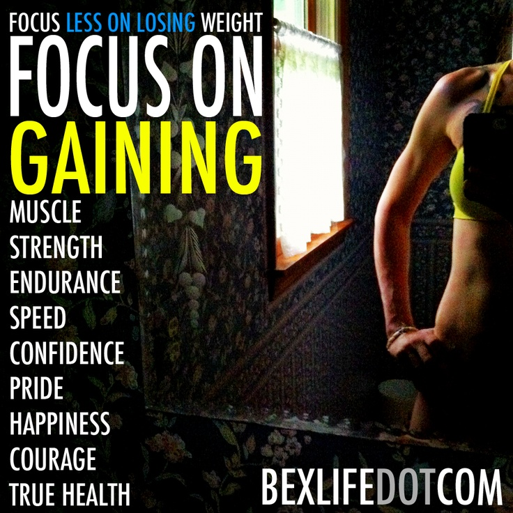 think about gaining instead of losing #FitFluential via @GirlRucki