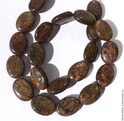 Бронзит овал 18 мм гладкие бусины кабошон камни для украшений. Handmade.