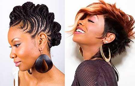 10. Curly Mohawk Frisur für schwarze Frauen