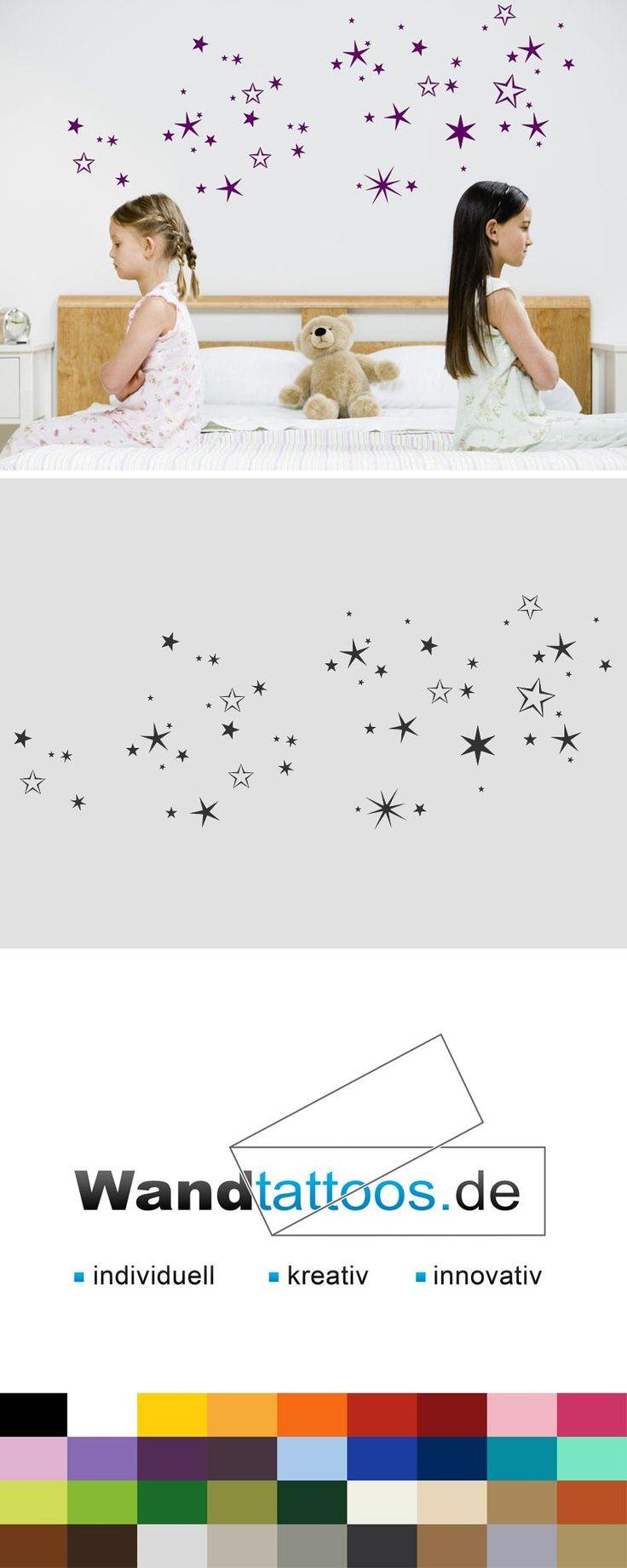 Wandtattoo Sternenhimmel als Idee zur individuellen Wandgestaltung. Einfach Lieblingsfarbe und Größe auswählen. Weitere kreative Anregungen von Wandtattoos.de hier entdecken!