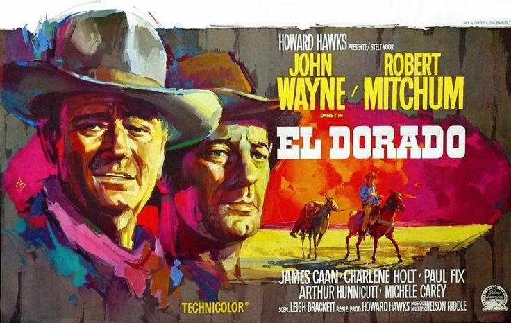 """El Dorado"" 1966, with John Wayne, Robert Mitchum, James Caan, Arthur Hunnicutt, Charlene Holt,..."