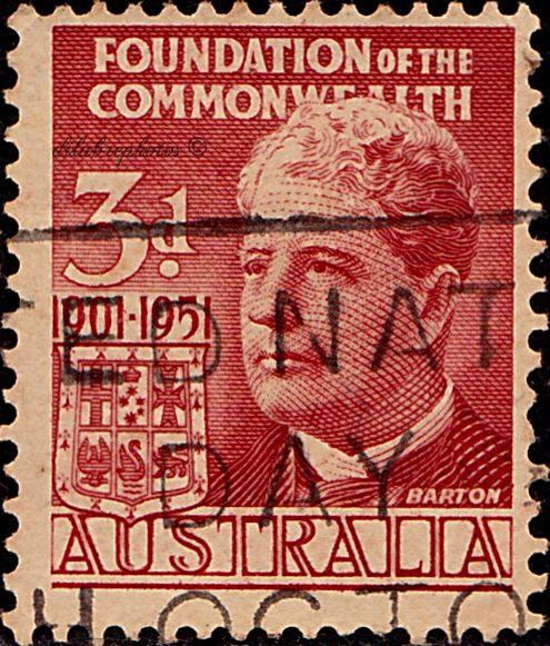 Edmund Barton U Edmund Barton: Australia. Sir Edmund Barton. Founding Of The Commonwealth