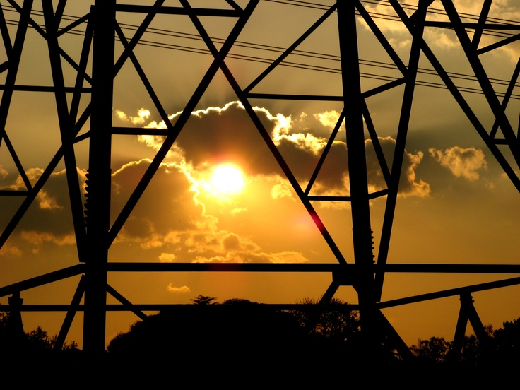 Pylon  and a sunset!