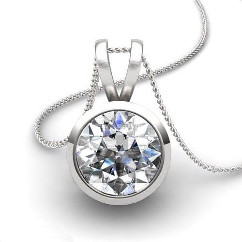 Diamant Anhänger Solitär 0.50 Karat aus 585er Weißgold