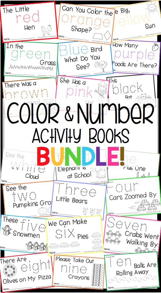 Teach color and number words in context! Each book has a short story and four, fun activities to reinforce the color/number word.