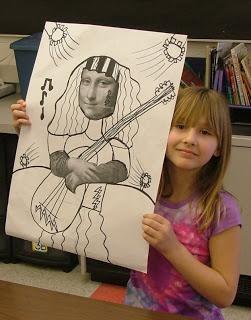 Art with Mrs. Seitz 3rd grade Mona Lisa Parodies