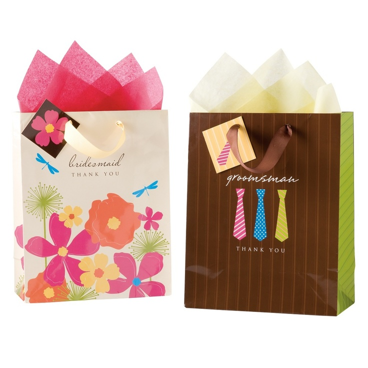 Thank You Wedding Gift Bags : ... Party Gifts on Pinterest Wedding jewelry, Groomsmen and Pearls