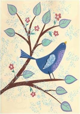 Spring Bluebird Garden Flag