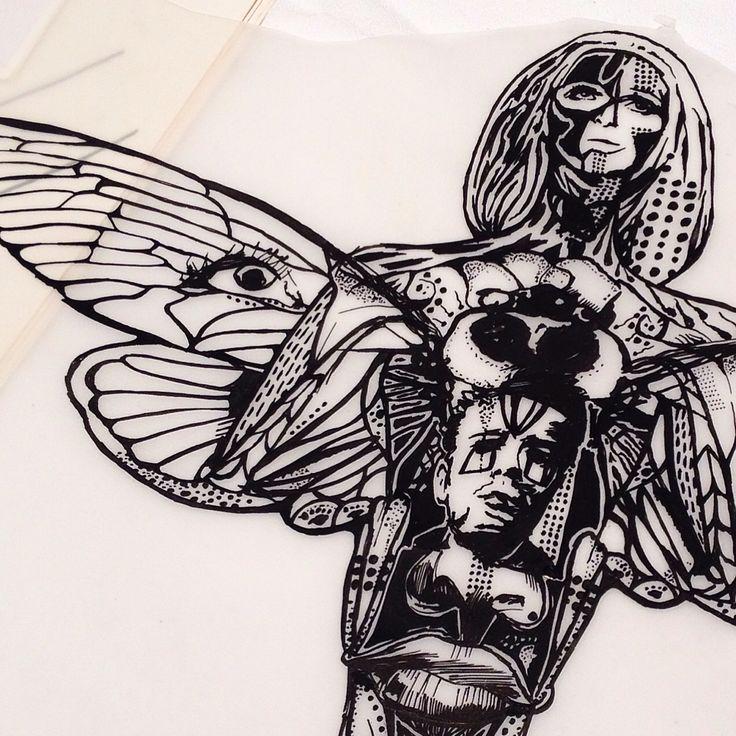 Moth woman.