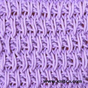 Right side of knitting stitch pattern - Slip Stitch 2