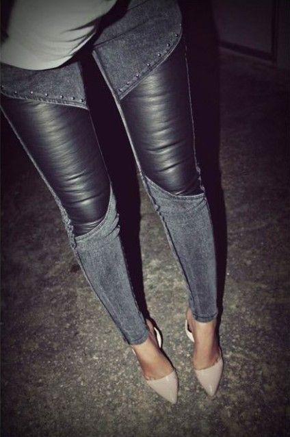 Leather Denim & Studs!