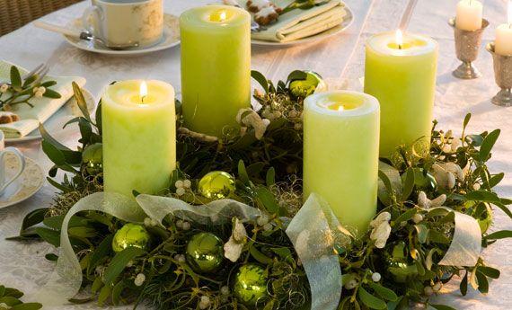 Decorazioni natalizie con il vischio