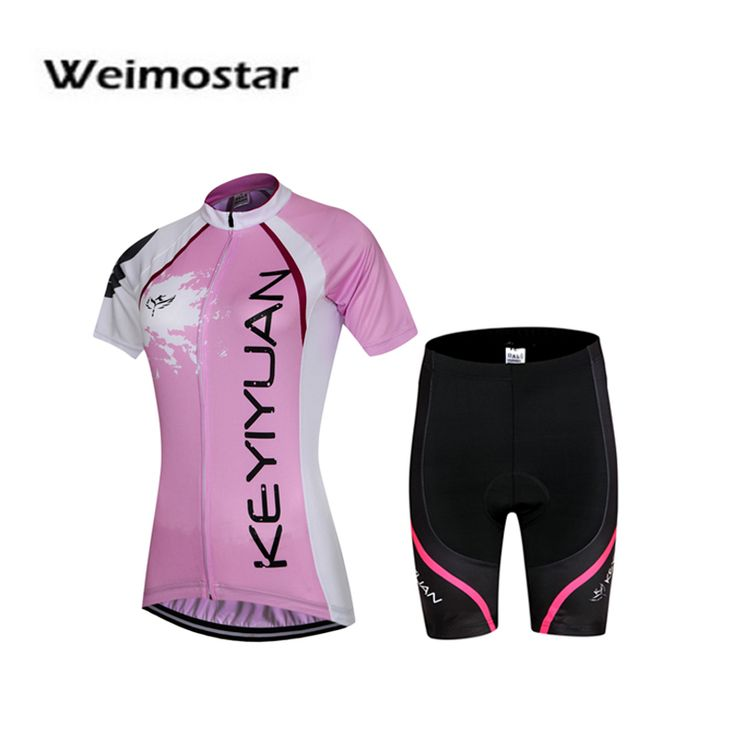 Weimostar Women Ropa Ciclismo Cycling Jersey Short Sleeve GEL Breathable Padded Shorts Set Sportwear