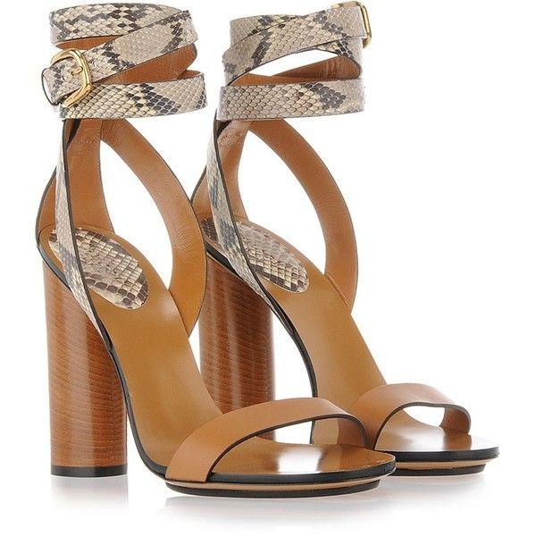 GUCCI Fashion Show Chunky Heel Sandals found on Polyvore | Top ...