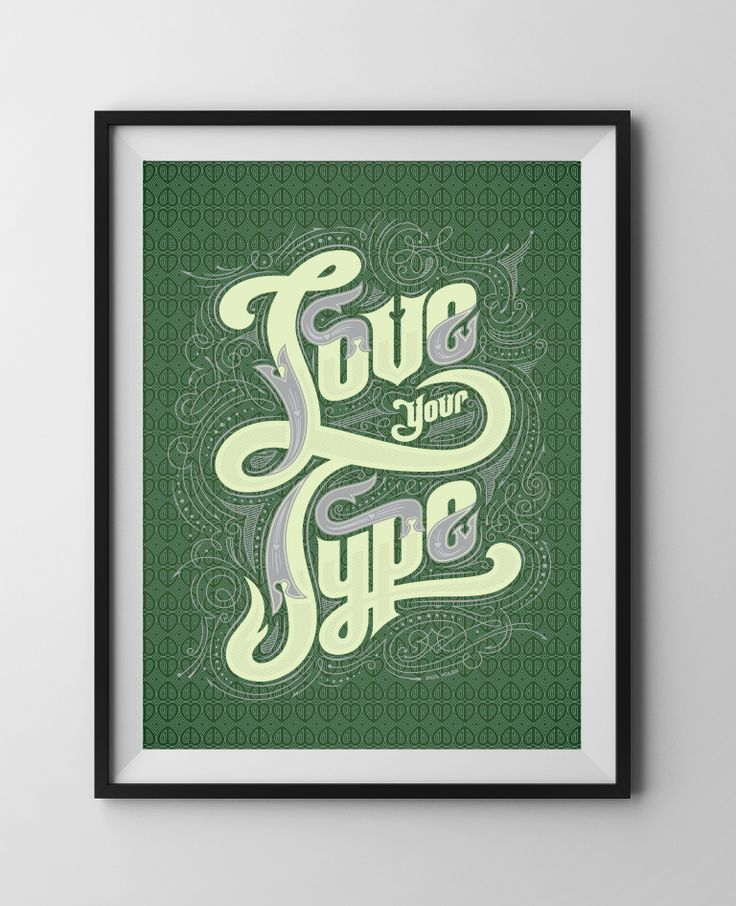 Love Your Type IS01 by Paul Nolan ~ Limited Edition Justus Magazine Poster