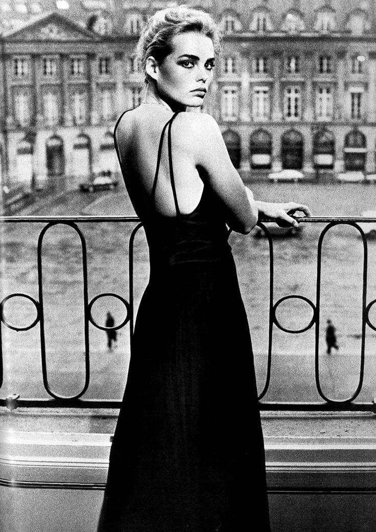 Margaux Hemingway at Place Vendôme in Paris, by Helmut Newton