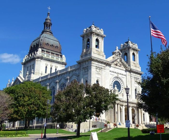 The Basilica of Saint Mary is the oldest basilica in the United States, and it's right in Minneapolis.