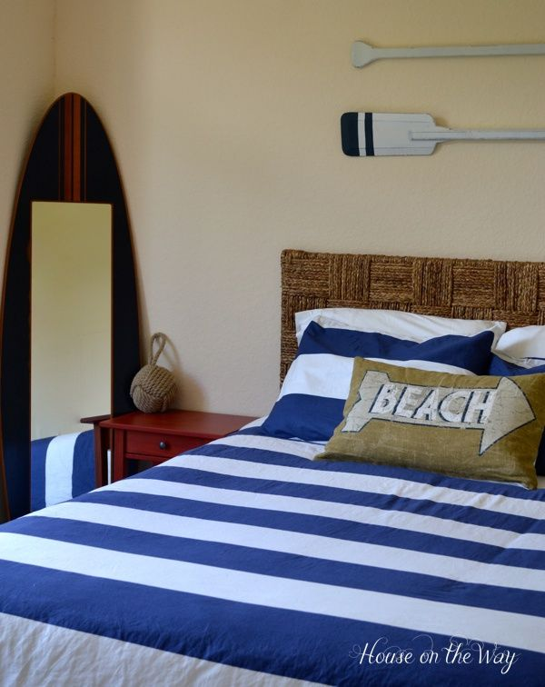 16 Diy Nautical Home Decor The Weekly Round Up Surf Home And Seagrass Headboard