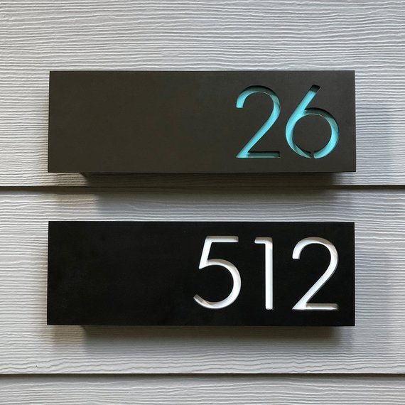 The Pemberton House Numbers Steel Modern Metal Address Plaque Plate Sign Address Plaque House Numbers Address Numbers
