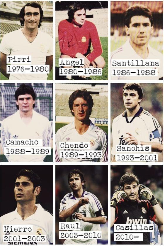 Real Madrid captains since 76' #halamadrid