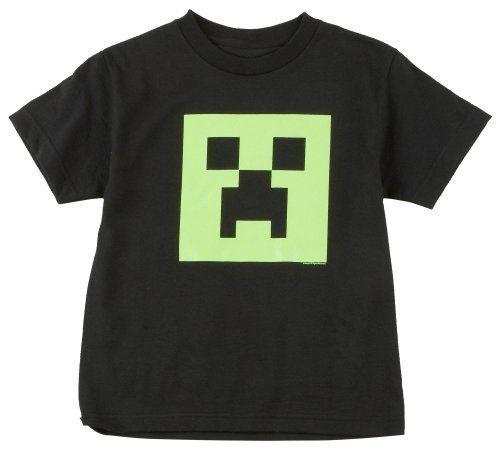 Minecraft - camiseta infantil de creeper - brilla en la oscuridad - videojuego de mundo abierto - algodón - negra - 152 #camiseta #realidadaumentada #ideas #regalo