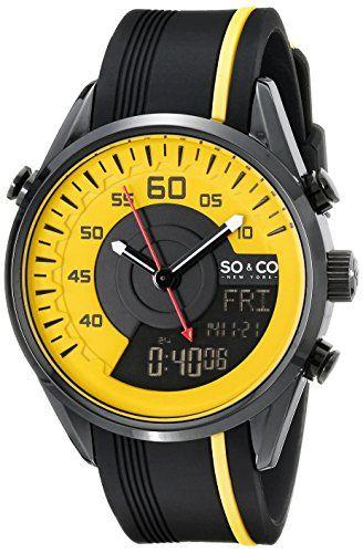 SO&CO New York Men's 5044.3 SoHo Quartz Analog Digital Yellow Dial Rubber Strap Watch SO&CO New York http://www.amazon.com/dp/B00NP0CB4U/ref=cm_sw_r_pi_dp_C2J5vb1RPDQ4F