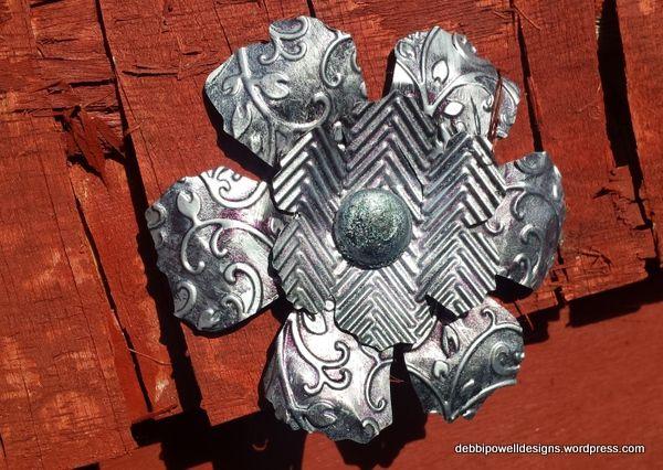 Steampunk Metal Flower tutorial