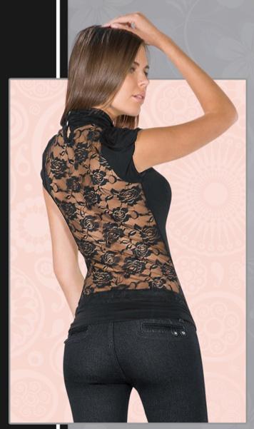 Nada más lindo que una blusa con espalda de encaje! Tierra Bendita J660
