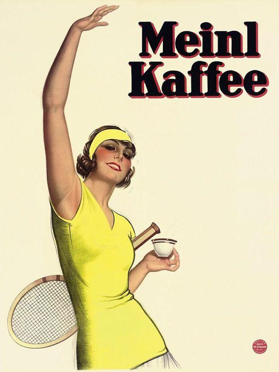 Meinl Kaffee Vintage Swiss Coffee Advertising by FoxgloveMedia