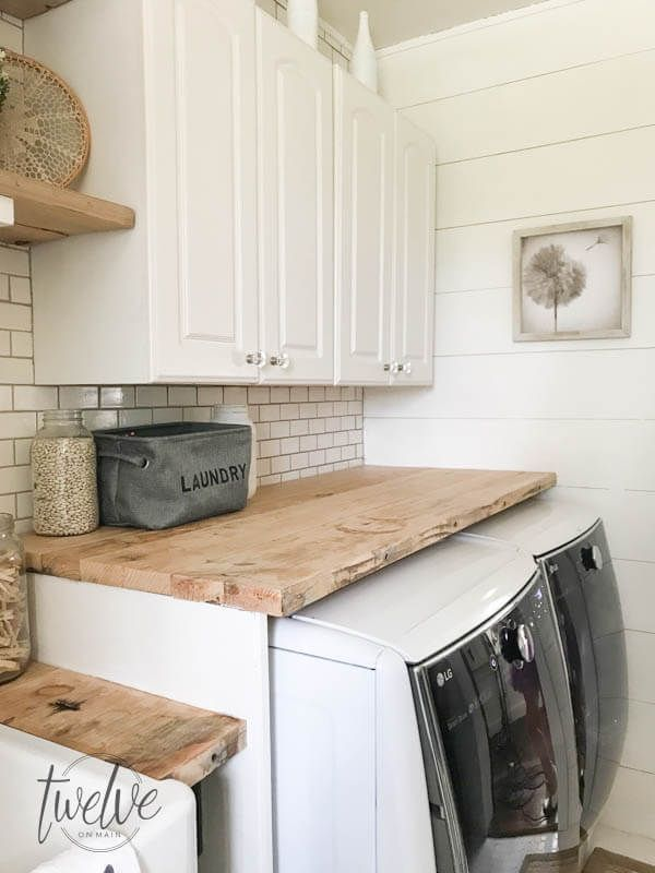 My Farmhouse Laundry Room One Year Later Laundry Room Tile