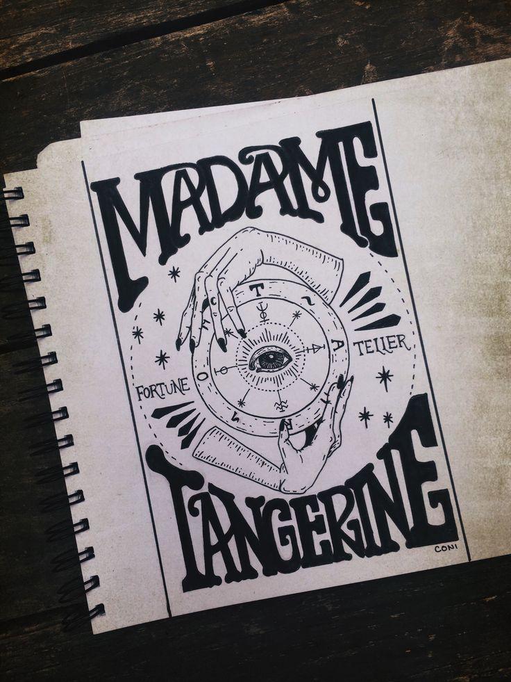 Madame Tangerine Gypsy Fortune Teller Vintage Sign