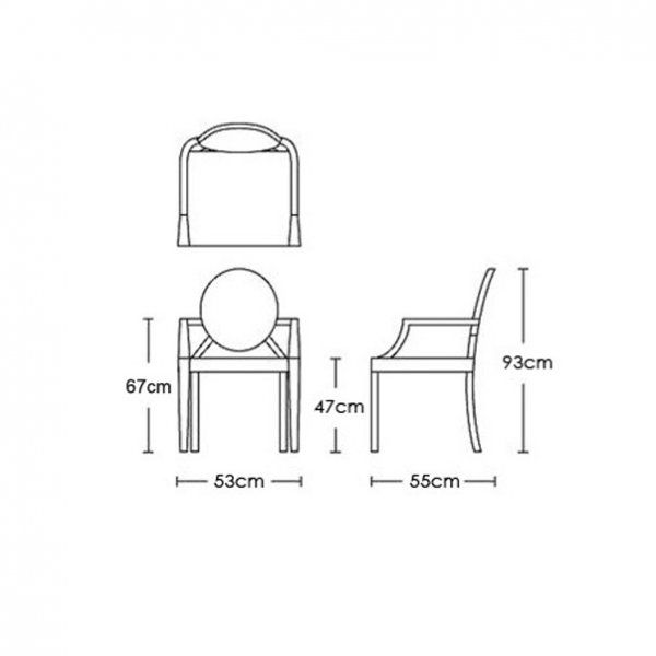 Plan Elevation Of Chair : Louis ghost chair google search autocad tips