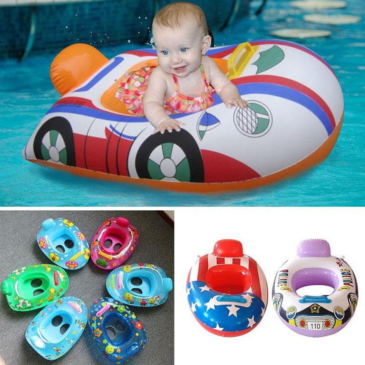 Baby Kids Cartoon Swimming Float Ring Inflatable Pool Ring Swim Seat Float Boat Water Sport Safety Pool Accessories Ramdom S