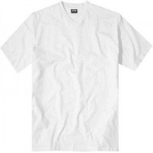 Korte mouw T-shirt met V-hals van Olympus. Ze zijn niet opvallend. Eenvoudige katoenen shirts in basis vormen en kleuren zijn de miskende helden van de tijd. Deze klassieke 'Olymp' T-shirts zitten een dubbele verpakking.
