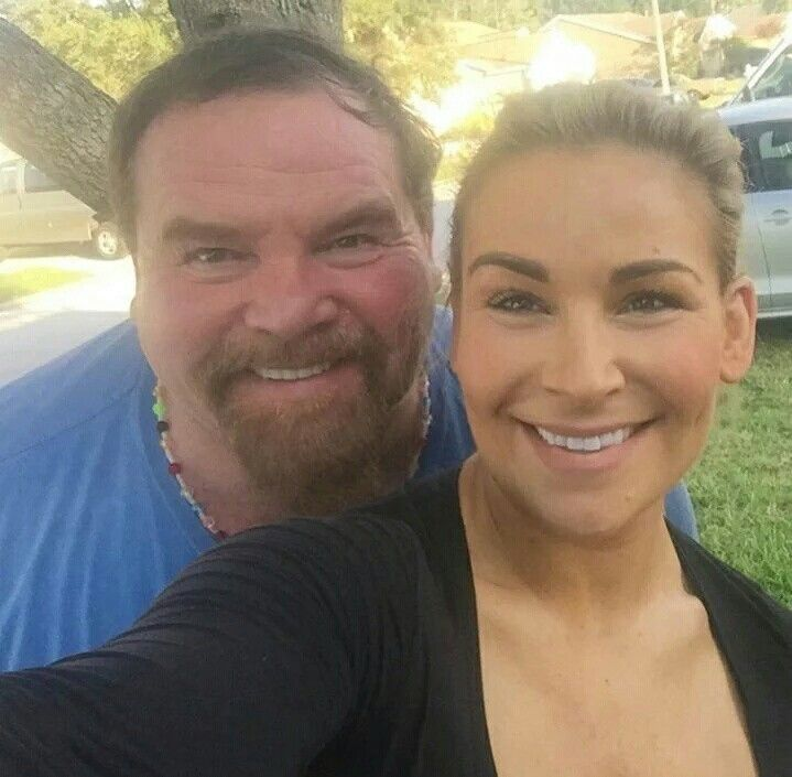 Natalya & Dad Jimmy Hart
